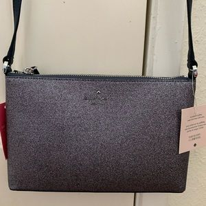 Kate spade glitter joeley crossbody blue shoulder